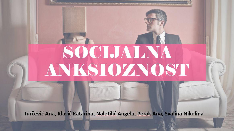 """Radionica """"Socijalna anksioznost"""""""