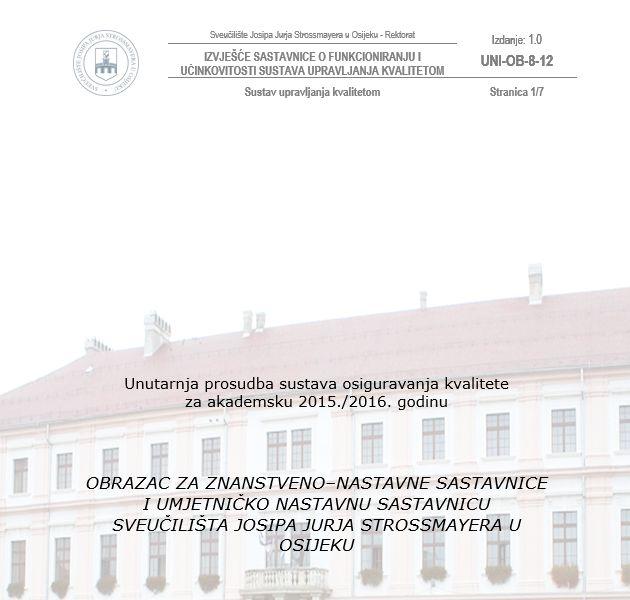 Unutarnja prosudba sustava upravljanja kvalitetom-sastavnice