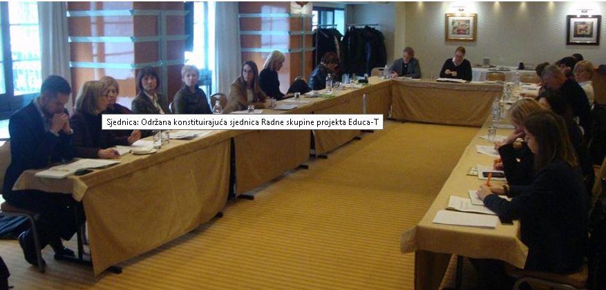 Održana konstituirajuća sjednica Radne skupine projekta Educa-T
