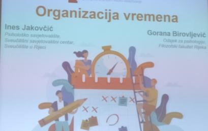 """Radionica """"Kako studentima pomoći razviti vještine organizacije vremena"""""""