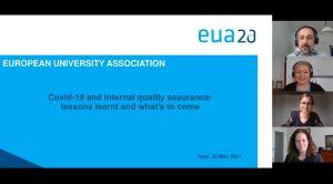 """Webinar – """"Covid-19 i unutarnje osiguranje kvalitete: naučene lekcije i ono što slijedi"""""""