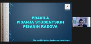 Ciklus radionica ''Karijerna srijeda'' – radionica ''Pravila pisanja studentskih pisanih radova''