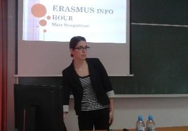 Održano predavanje ERASMUS + program mobilnosti studenata – INFO Hour