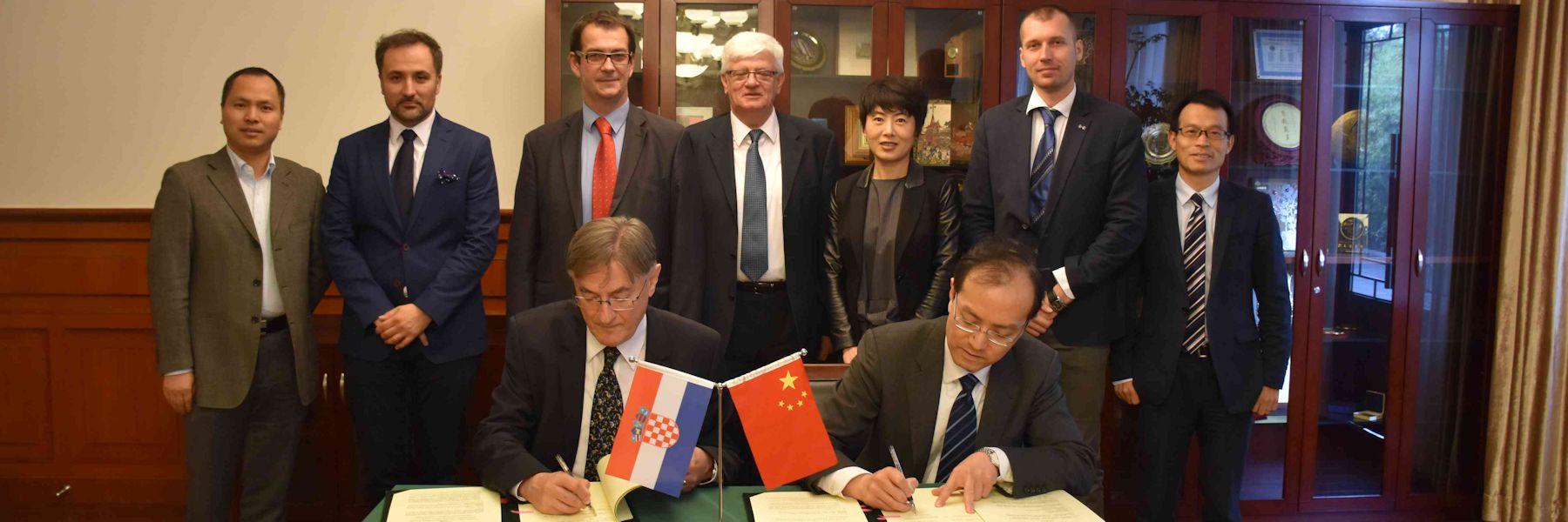 Tijekom uzvratnog posjeta sveučilištima u Kini potpisan sporazum o razmjeni nastavnika i studenata, zajedničkim projektima, istraživanjima i znanstvenim skupovima