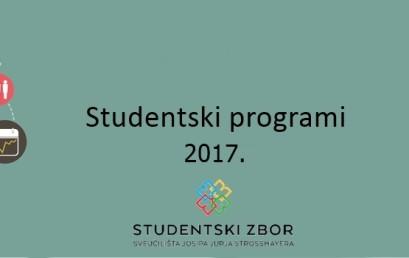 Preliminarni rezultati Natječaja za studentske programe u 2017. godini