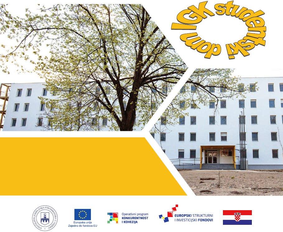 Završen EU projekt Rekonstrukcija zgrade studentskog doma na adresi I. G. Kovačića 4, Osijek