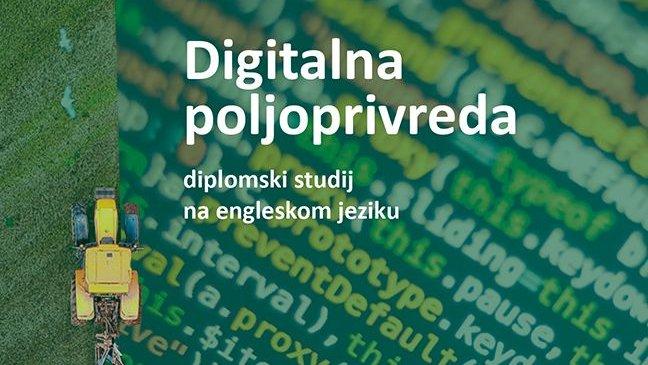 Diplomski studij Digitalna poljoprivreda